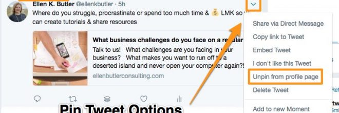 How and Why – Pinning Posts on Facebook and Twitter